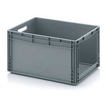 Plastová přepravky s vkladovým otvorem 600x400x320 mm