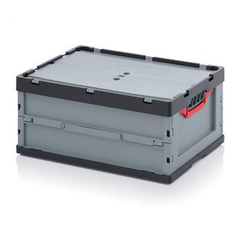 Skládací přepravka s víkem, 600x400x270 mm