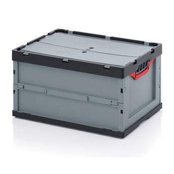 Skládací přepravka s víkem, 600x400x320 mm