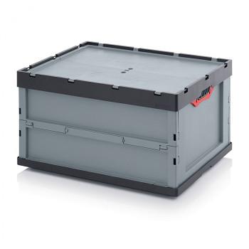 Skládací přepravka s víkem, 800x600x420 mm