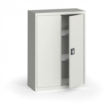 Kovová skříň 1150x 800x400 mm, šedá/šedá, 60 kg na polici