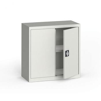 Kovová skříň  800x 800x400 mm, šedá/šedá, 60 kg na polici