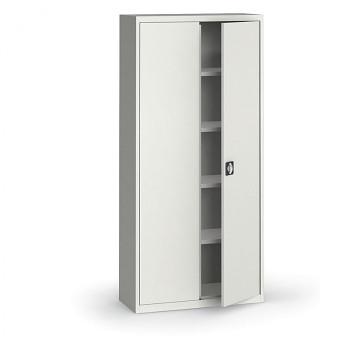 Kovová skříň 1950x 950x400 mm, šedá/šedá, 60 kg na polici