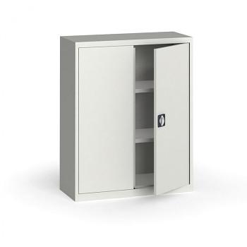 Kovová skříň 1150x 950x400 mm, šedá/šedá, 60 kg na polici