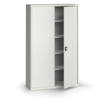 Kovová skříň 1950x1200x400 mm, šedá/šedá, 60 kg na polici