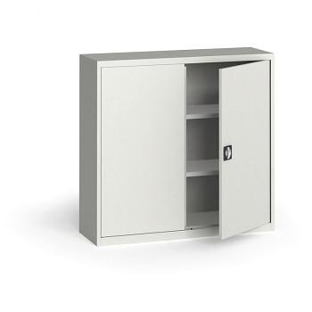 Kovová skříň 1150x1200x400 mm, šedá/šedá, 60 kg na polici