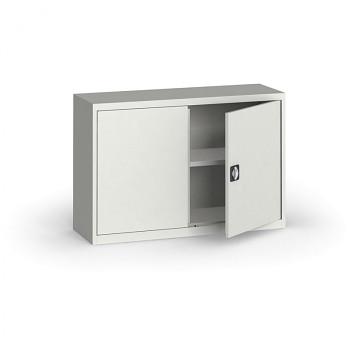 Kovová skříň  800x1200x400 mm, šedá/šedá, 60 kg na polici