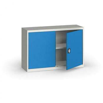 Kovová skříň  800x1200x400 mm, šedá/modrá, 60 kg na polici