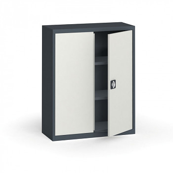 Kovová skříň 1150x 950x400 mm, antracit/šedá, 60 kg na polici