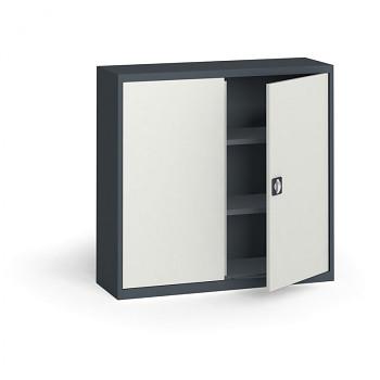 Kovová skříň 1150x1200x400 mm, antracit/šedá, 60 kg na polici