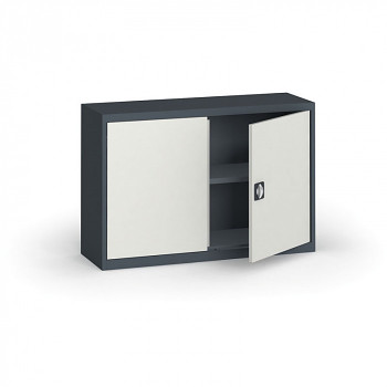 Kovová skříň  800x1200x400 mm, antracit/šedá, 60 kg na polici