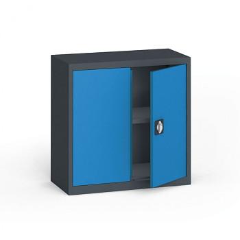 Kovová skříň  800x 800x400 mm, antracit/modrá, 60 kg na polici