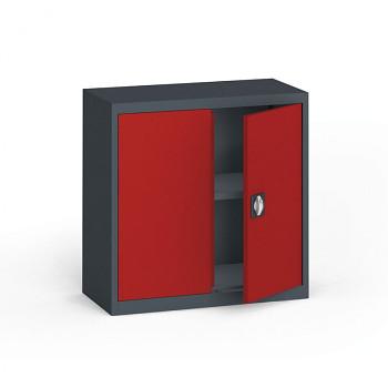 Kovová skříň  800x 800x400 mm, antracit/červená, 60 kg na polici