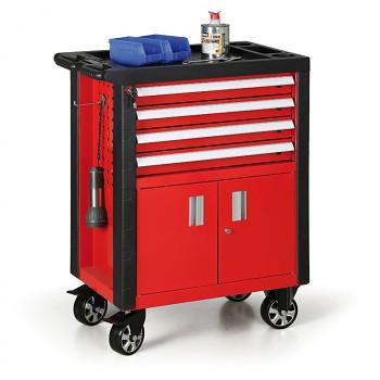Dílenský vozík na nářadí 4 zásuvky, skříňka
