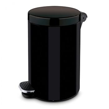 Nášlapný koš  5 l, lak černý