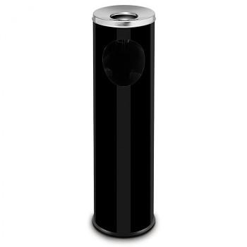 Odpadkový koš s popelníkem  700x200 černá