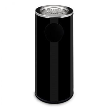 Odpadkový koš s popelníkem  690x300 černá
