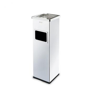 Odpadkový koš s popelníkem  690x220x220 nerez matný