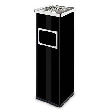 Odpadkový koš s popelníkem  690x220x220 černá