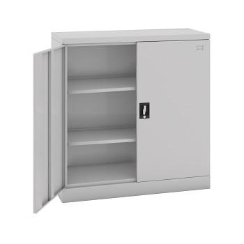 Kovová skříň 1040x1000x 435 mm, šedá/šedá, 60 kg na polici, demont