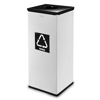 Koš na tříděný odpad 90 l šedý/černé víko