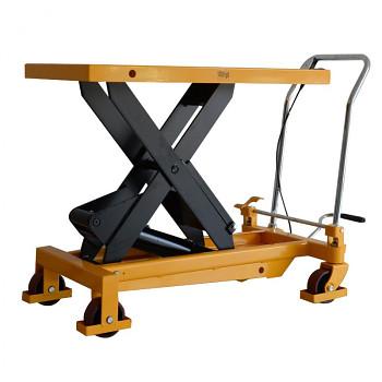 Hydraulický zvedací stůl, nosnost  750 kg, zdvih  990 mm