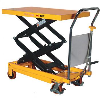 Hydraulický zvedací stůl, nosnost  350 kg, zdvih 1300 mm