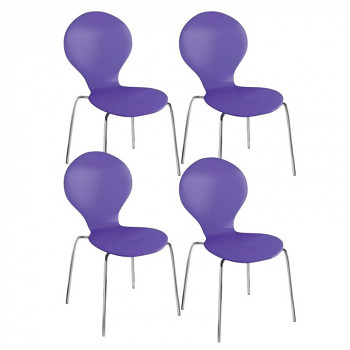 Židle CANDY fialová 4 ks