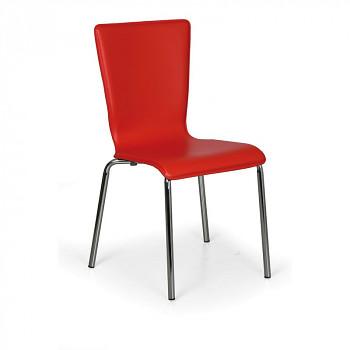 Židle CAPRIO červená 4 ks
