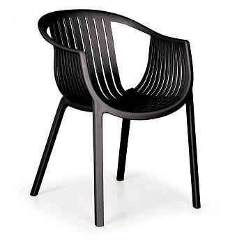 Bistro židle LOUNGE, černá, balení 4 ks