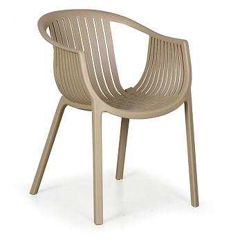 Bistro židle LOUNGE, béžová, balení 4 ks
