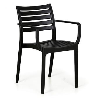 Bistro židle SLENDER, černá, balení 4 ks