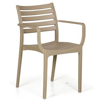 Bistro židle SLENDER, béžová, balení 4 ks