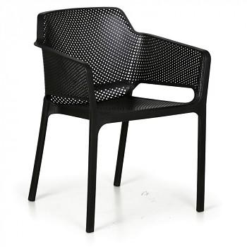 Bistro židle RUSTIC, černá, balení 4 ks