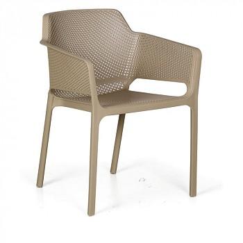 Bistro židle RUSTIC, béžová, balení 4 ks