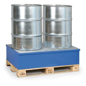 Záchytná vana s roštem 240 l, pro 2x sud, modrá, bez nožek