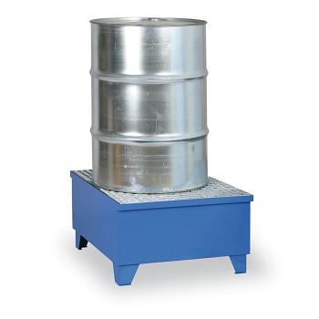 Záchytná vana s roštem 100 l, pro 1x sud, modrá, s nožkami