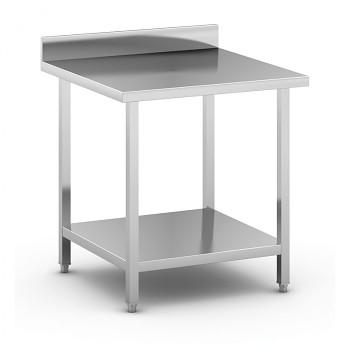 Nerezový pracovní stůl s policí  800x800