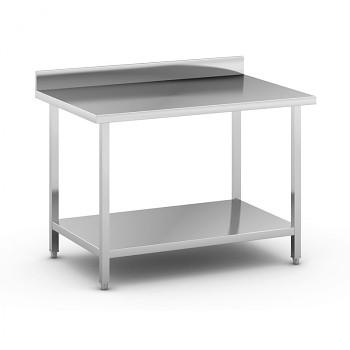 Nerezový pracovní stůl s policí 1200x800