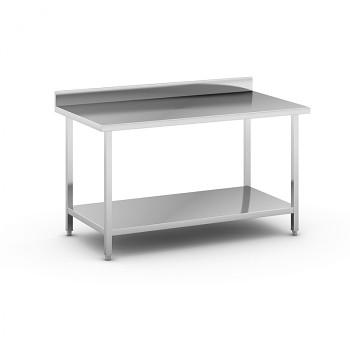 Nerezový pracovní stůl s policí 1500x800