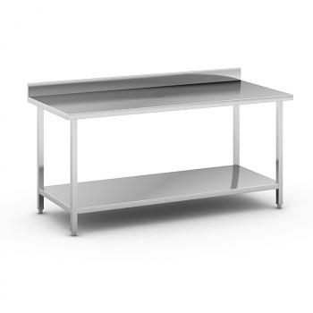 Nerezový pracovní stůl s policí 1800x800