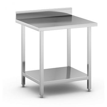 Nerezový pracovní stůl s policí  800x700