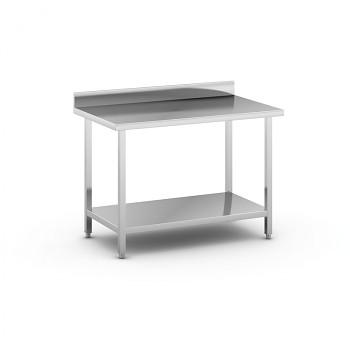 Nerezový pracovní stůl s policí 1200x700