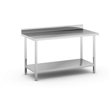 Nerezový pracovní stůl s policí 1500x700