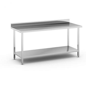 Nerezový pracovní stůl s policí 1800x700