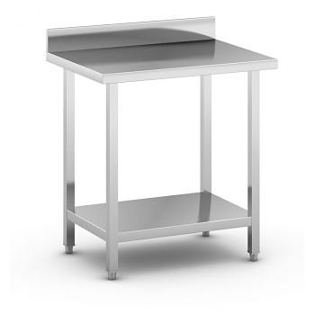 Nerezový pracovní stůl s policí  800x600