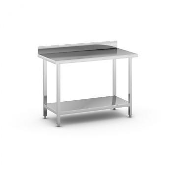 Nerezový pracovní stůl s policí 1200x600