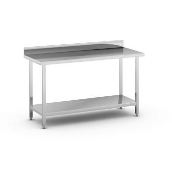Nerezový pracovní stůl s policí 1500x600