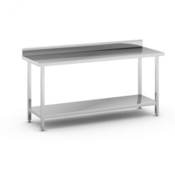 Nerezový pracovní stůl s policí 1800x600
