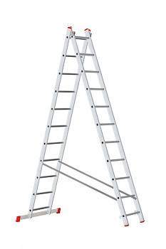 Hliníkový žebřík výsuvný dvoudílný 2x11 příček
